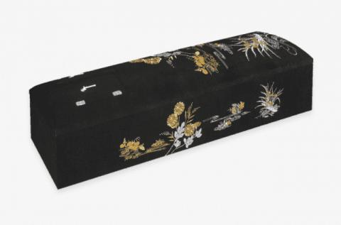 STDX刺繍棺黒(高級ドーム型)