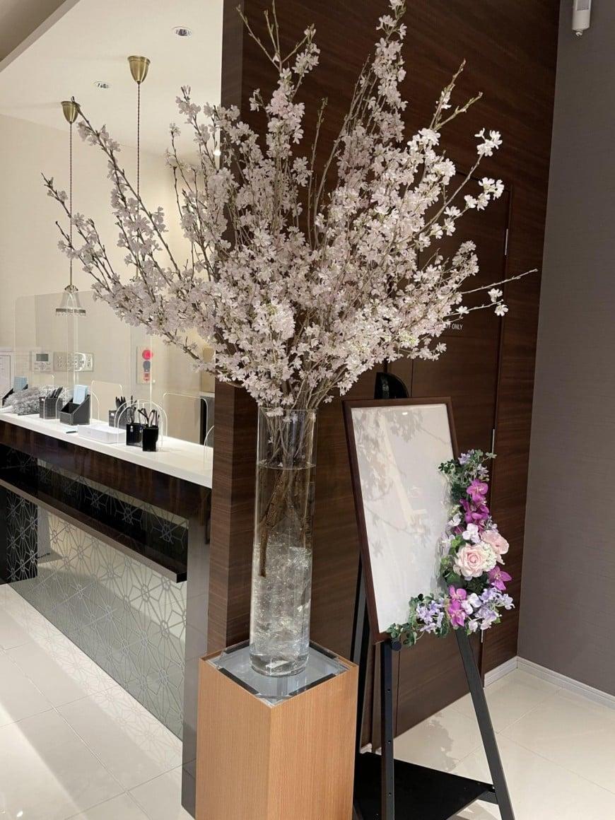 桜、飾りました